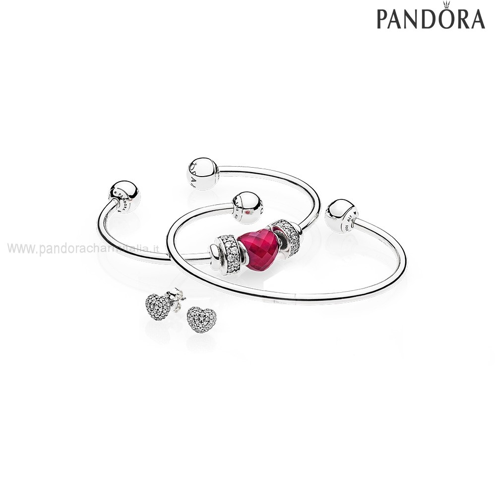 Negozi Pandora Be Mine Stacked Open Bangle Regalo