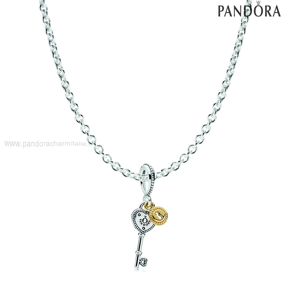 Negozi Pandora Chiave To My Cuore Necklace Regalo