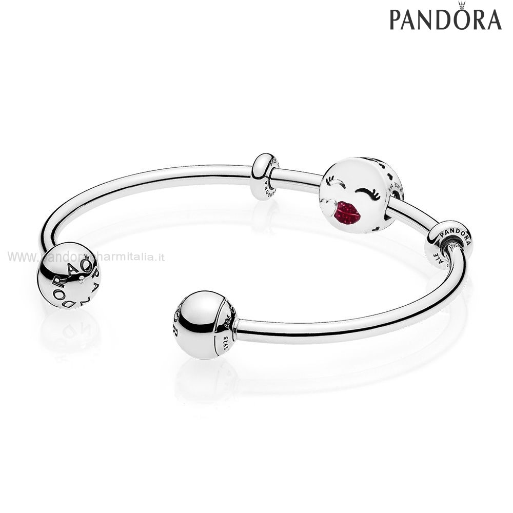 Negozi Pandora Cute Bacio Open Bangle Regalo
