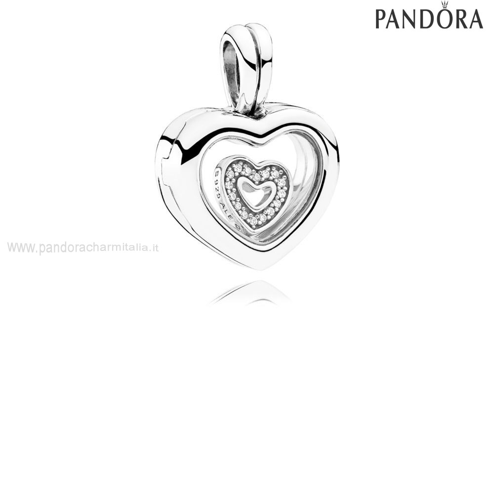 Negozi Pandora Floating Cuore Locket