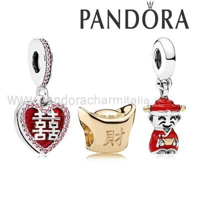 Negozi Pandora Happiness Fortune And Luck Charm Pack