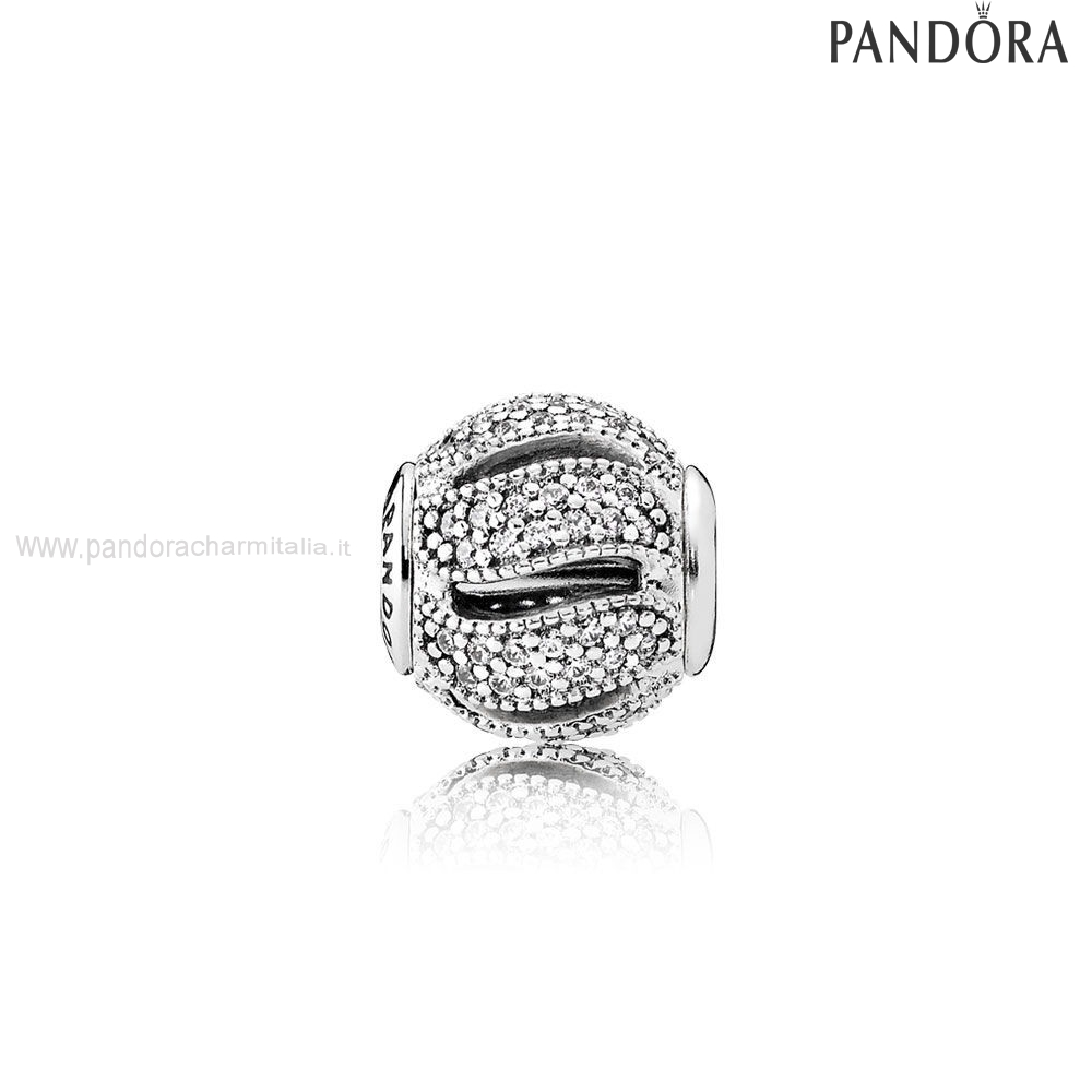 Negozi Pandora Pandora Essenza Loyalty Charm Clear Cz